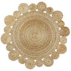 Hemp daisy rug