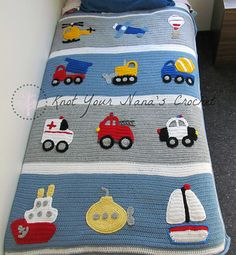 Ravelry: Knot Your Nana's Crochet Boys Will Be Boys Blanket - patterns