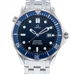 Authentic Used OMEGA Seamaster 300M James Bond 2531.80.00 Watch (10-10-OME-6VNMPH) Cool Watches, Watches For Men, Men's Watches, Royal Oak Offshore Chronograph, Omega Seamaster Deville, Rolex Air King, Omega Seamaster Professional, Seamaster Aqua Terra, Phone Deals