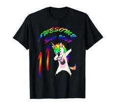 Amazon.com: Colorful Unicorn 11 Year Young Awesome Since 2008 Fun Gift: Clothing