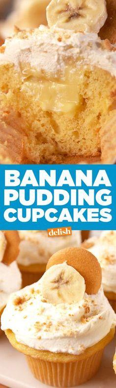 Banana Pudding Cupcakes  - Delish.com