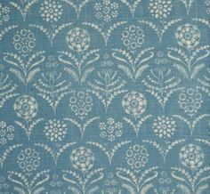 Paradeiza in China Blue from Lisa Fine Textiles #fabric #linen #blue