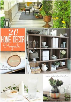 Great Ideas -- 20 DIY Home Decor Projects!! Tatertots and Jello #DIY #homedecor