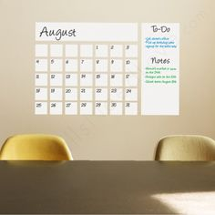 Dry Erase Calendar Decal. Yup, it's real! $40 #WallsNeedLove