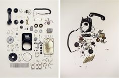 From #thingsorganizedneatly. Fantastic #Toronto artist that explodes objects in a classy way.