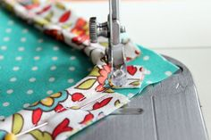 How to sew corded piping to a pillow case.
