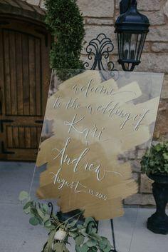 Plexiglass Wedding Welcome Sign