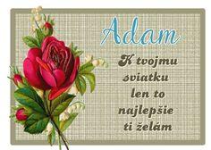 Adam K tvojmu sviatku len to najlepšie ti želám: Birthday Wishes, December, Birthdays, Bullet Journal, Anniversaries, Special Birthday Wishes, Birthday, Birthday Greetings, Birthday Favors