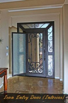 61 ideas modern exterior door front entry decor for 2019 Front Entry Decor, Front Door Entrance, Entry Doors, Front Doors, Iron Front Door, Modern Front Door, Front Door Design, Modern Exterior Doors, Wrought Iron Doors