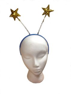 Gold Star Glitter Fancy Dress Hen Party Head Boppers Fancy Dress Accessory New