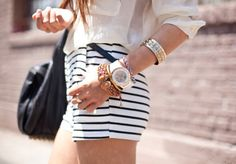 shorts with stripes