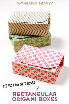 — Gathering Beauty Make these Rectangular Diy Origami Boxes from a single sheet of paper. Perfect to hold your handmade gifts.Make these Rectangular Diy Origami Boxes from a single sheet of paper. Perfect to hold your handmade gifts. Diy Origami Box, Origami Gifts, Origami Ball, Origami Tutorial, Origami Paper, Origami Instructions, Dollar Origami, Origami Bookmark, Useful Origami