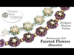 (137) Faceted Flowers Bracelet Design (DIY Tutorial) - YouTube