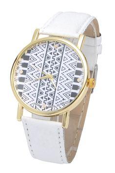 Geometric Print Watch WHITE: Watches | ZAFUL