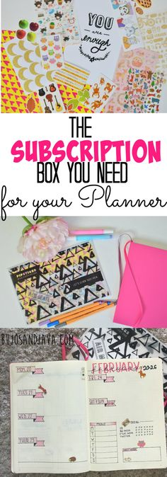 The Coolest Subscription box you need for your bullet journal or planner.