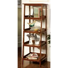 Furniture of America 'Jaeleen' Antique Oak 4-tier Display Stand - Overstock™ Shopping - Great Deals on Furniture of America Media/Bookshelves