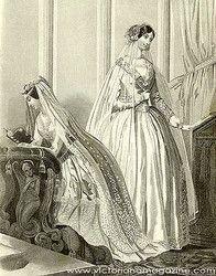 Wedding gown 1840's/1850's