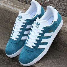 "new arrival 615b4 64de6 80s Casual Classics on Instagram  ""Fresh in at 80sCC are the Petrol Blue Adidas  Gazelle trainers available in sizes 5-12. A classic style in Fresh colours  ..."