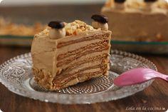 Tarta de galletas y moka // Cookies & mocha cake recipe in spanish