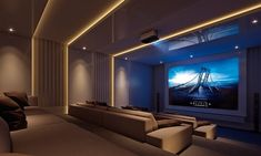 Home Theater Room Design, Home Cinema Room, Home Theater Decor, Best Home Theater, At Home Movie Theater, Home Theater Rooms, Home Theater Seating, Dream Home Design, Home Interior Design