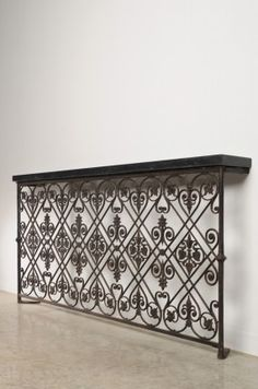 A sensational cast iron balcony railing removed from a villa near Avignon, France that dates to c. 1875... CarlMooreAntiques.com