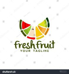 Find Fruit Logo Design Vector stock images in HD and millions of other royalty-free stock photos, illustrations and vectors in the Shutterstock collection. Food Company Logo, Logo Food, Arte Pulp Fiction, Shop Banner Design, Juice Logo, Fruit Logo, Fruit Vector, Logo Concept, Logo Design Inspiration