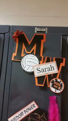 Volleyball locker decorations Volleyball Locker Signs, Soccer Locker, Volleyball Posters, Basketball Signs, Volleyball Gifts, Volleyball Ideas, Basketball Party, Softball, Baseball
