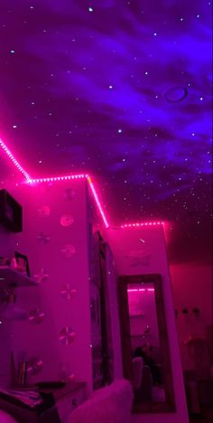 Teen Room Decor, Room Ideas Bedroom, Bedroom Inspo, Hipster Bedroom Decor, Hipster Rooms, Chill Room, Cozy Room, Neon Bedroom, Rock Bedroom