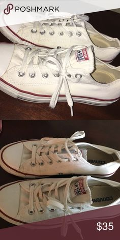 White Converse worn a few times but still in good condition Converse Shoes Sneakers