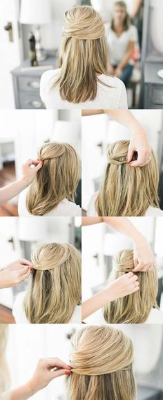 [ Quick And Easy Hairstyles For School : Super Sexy Hairstyles- Lace Half Up For A Sexy Office Look - Easy Hair Styles For Long Hair, Medium Hair, And For Hairstyles For School, Hairstyles With Bangs, Trendy Hairstyles, Braided Hairstyles, Wedding Hairstyles, Office Hairstyles, Going Out Hairstyles, Long Haircuts, School Hairdos