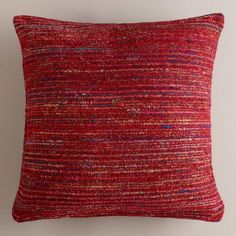 One of my favorite discoveries at WorldMarket.com: Berry Recycled Silk Sari Pillow