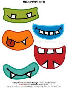 Monster Mouths Printable Photo Props  for Photo by motherducksaid, $3.00