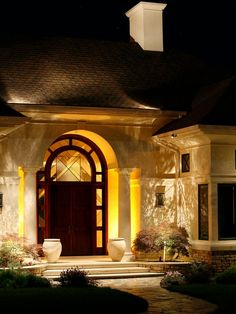Landscape Lighting Exterior Home. 14 Best Outdoor Lighting Ideas For Pool Or Mini Lake From . Outside Lighting Ideas, Backyard Lighting, Outdoor Lighting, Outdoor Doors, Garage Lighting, Rustic Outdoor, Outdoor Ideas, Modern Landscape Lighting, Landscape Design