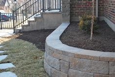 Stairs, walkway and retaining wall updates give a fresh look to an older home...why move?