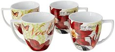 Waechtersbach Accents Traditions Mugs Noel Set of 4 *** More info could be found at the image url.