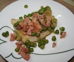 Panga con guisantes y jamón de Mirian Reyes. Con Chef Plus Induction.