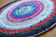 Custom Rug  Your Clothes Made into a Custom Round Crochet by ekra, $260.00