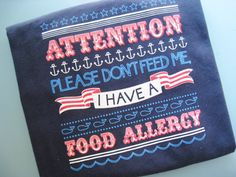 1218 Month Allergy Alert T Shirt For Babies and by TalkForMeTees, $14.99