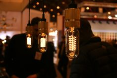 Key Trends From 2013 London Design Festival - British brand Buster + Punch showcased a line of beautiful bulbs that replicate the old Edison filaments. Designed to be exposed, the bulbs are available in spiral and teardrop shapes and look particularly good when teamed with Vitamin's lamps (previous slide).