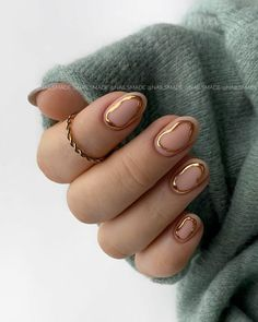 Fancy Nails, Gold Nails, My Nails, Minimalist Nails, Nail Swag, Stylish Nails, Trendy Nails, Fire Nails, Dream Nails