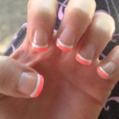 Fluorescent French tip nails