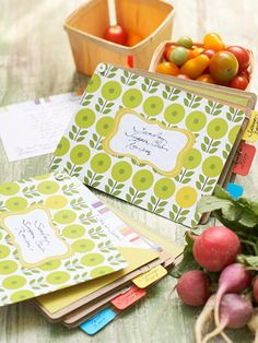 Pretty Handmade Recipe Book...would be fun to make a themed one for the fam -- maybe Vacation Recipes or Christmas favorites :)
