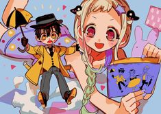 """あいだいろ@13巻5/27発売 on Twitter: """"5月18日はGファンタジー6月号の発売日! 今月は表紙&巻頭カラーに加え、特別付録として花子くんたちの着せ替えミニクリアファイルがついてきます☂️🎶 色々着せ替えてあなた好みの服の色を見つけてみてください✨… """" Gon Anime, Deku Anime, Anime Manga, Anime Art, Art 33, Chibi, Manga Covers, Fanarts Anime, Character Drawing"""