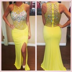 New Arrival Prom Dress,Long Prom Dresses,Cheap Prom Dresses,Backless Evening Dress,yellow Prom Gowns,Women Dress