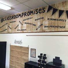 #ClassroomPromises...like rules but with hashtags. My kiddos will be encouraged to recognize and praise other students who are following…