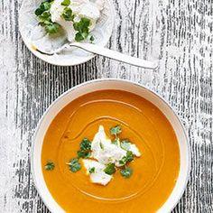 Zupa krem z batatów z ricottą | Kwestia Smaku