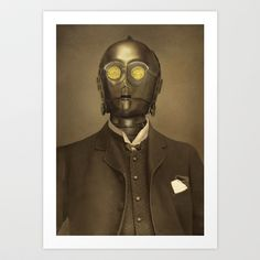 Baron Von C3PO Art Print by Terry Fan - $18.00