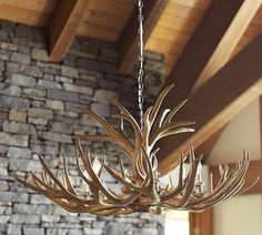 Adirondack antler chandelier rhbabyandchild interior and deco love antlers faux taxidermy is the way to get this hot trend without hurting any aloadofball Images