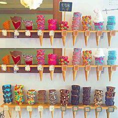 Waffle Cone Recipe, Waffle Cones, Ice Cream Theme, Ice Cream Parlor, Ice Cream Business, Candy Videos, Candy Land Theme, Ice Cream Packaging, Fried Ice Cream