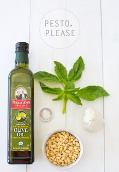 veganpesto - a house in the hills  he what:  3 cups fresh basil, sans stems  1/2 cup olive oil  1/2 cup pine nuts  4 small/medium cloves of garlic  sea salt the how: throw it all in a food processor and blend.  add salt to taste. show no restraint.